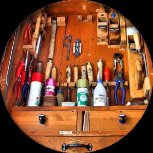 Website-Erstellung art supplies