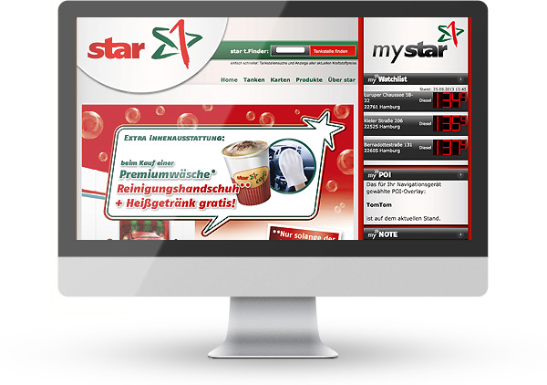 Realisiert mit Typo3: Star Tankstellen